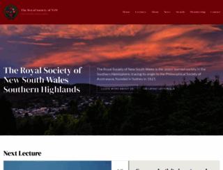 royalsocietyhighlands.org.au screenshot