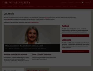 royalsocietypublishing.org screenshot
