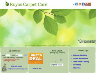 royascarpetcleaning.com screenshot