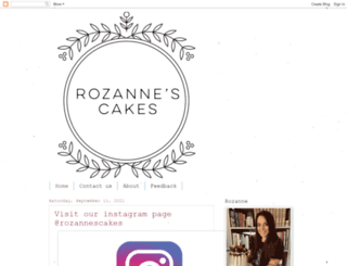 rozannescakes.com screenshot