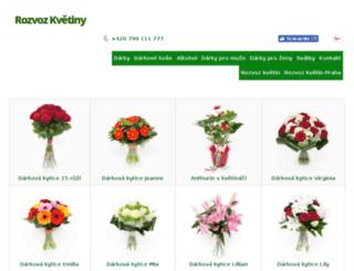 rozvozkvetiny.cz screenshot