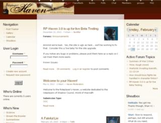 rp-haven.com screenshot