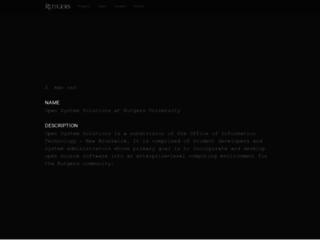 rpm.rutgers.edu screenshot