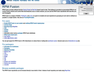 rpmfusion.org screenshot