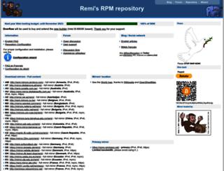 rpms.famillecollet.com screenshot