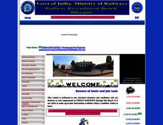 rrbbilaspur.gov.in screenshot