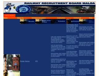 rrbmalda.gov.in screenshot