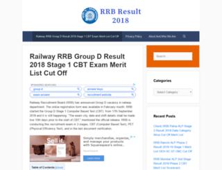 rrbresult2016.in screenshot