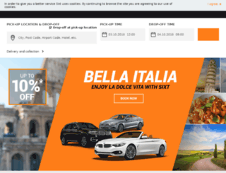 rs.sixt.com screenshot