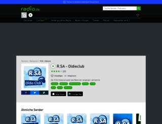 rsaoldieclub.radio.de screenshot