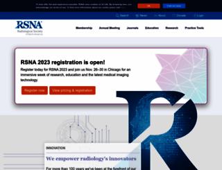 rsna.org screenshot