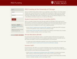 rsofunding.uchicago.edu screenshot