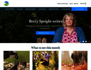 rspb.org.uk screenshot