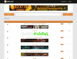 rspslist.org screenshot
