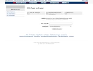 rss-eintragen.rss-nachrichten.de screenshot