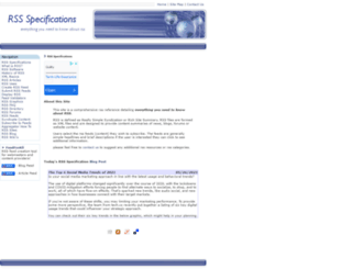 rss-specifications.com screenshot