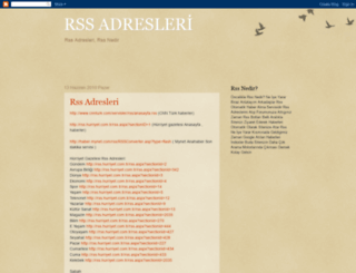 rssadresleri.blogspot.com screenshot