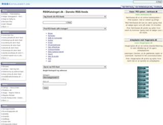 rsskataloget.dk screenshot