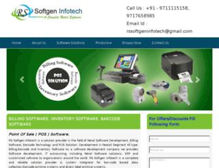 rssoftgeninfotech.com screenshot