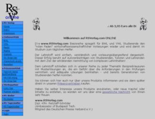 rsverlag.com screenshot