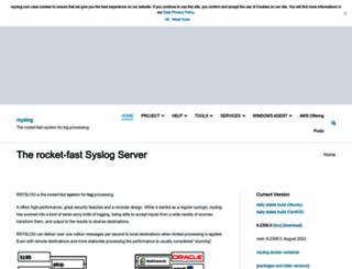 rsyslog.com screenshot