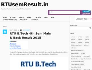 rtusemresult.in screenshot