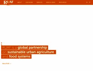 ruaf.org screenshot