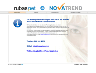 rubas.ch screenshot