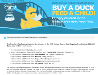 rubberduckregatta.org screenshot