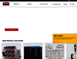 rubbermaidcommercial.com screenshot
