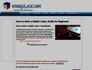 rubiksplace.com screenshot