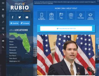 rubio.senate.gov screenshot