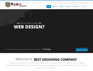 rubixwebsolution.com screenshot