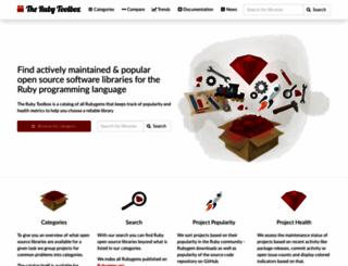 ruby-toolbox.com screenshot