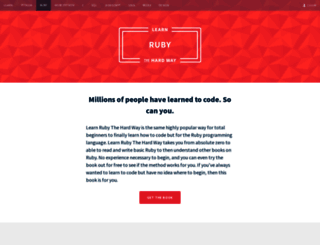 ruby.learncodethehardway.org screenshot