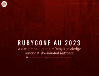 rubyconf.org.au screenshot