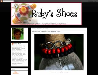 rubysshoes.blogspot.com screenshot