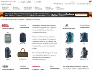 rucksack-spezialist.de screenshot