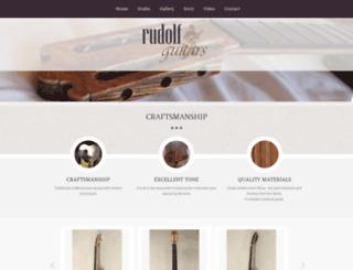 rudolfguitars.com screenshot