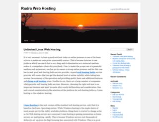 rudrawebhosting.wordpress.com screenshot