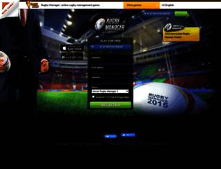 rugby-manager.com screenshot
