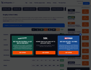 rugby.betting-directory.com screenshot