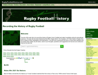 rugbyfootballhistory.com screenshot
