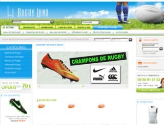 rugbyland.fr screenshot