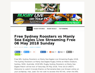rugbylivestreaming.com.au screenshot