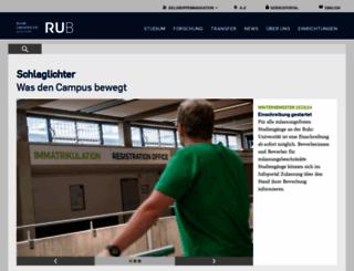 ruhr-uni-bochum.de screenshot