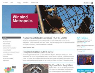 ruhr2010.de screenshot