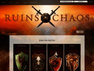 ruinsofchaos.com screenshot