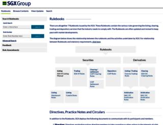 rulebook.sgx.com screenshot