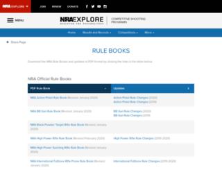 rulebooks.nra.org screenshot
